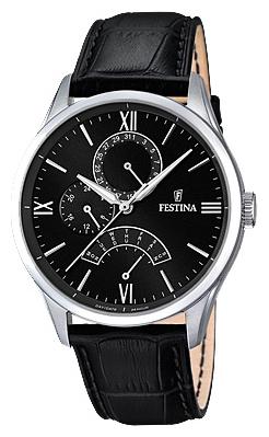 Festina F16823.4 - мужские наручные часы из коллекции RetrogradeFestina<br><br><br>Бренд: Festina<br>Модель: Festina F16823/4<br>Артикул: F16823.4<br>Вариант артикула: None<br>Коллекция: Retrograde<br>Подколлекция: None<br>Страна: Испания<br>Пол: мужские<br>Тип механизма: кварцевые<br>Механизм: MJR10<br>Количество камней: None<br>Автоподзавод: None<br>Источник энергии: от батарейки<br>Срок службы элемента питания: None<br>Дисплей: стрелки<br>Цифры: римские<br>Водозащита: WR 50<br>Противоударные: None<br>Материал корпуса: нерж. сталь<br>Материал браслета: кожа<br>Материал безеля: None<br>Стекло: минеральное<br>Антибликовое покрытие: None<br>Цвет корпуса: None<br>Цвет браслета: None<br>Цвет циферблата: None<br>Цвет безеля: None<br>Размеры: 43 мм<br>Диаметр: None<br>Диаметр корпуса: None<br>Толщина: None<br>Ширина ремешка: None<br>Вес: None<br>Спорт-функции: None<br>Подсветка: стрелок<br>Вставка: None<br>Отображение даты: число, день недели<br>Хронограф: None<br>Таймер: None<br>Термометр: None<br>Хронометр: None<br>GPS: None<br>Радиосинхронизация: None<br>Барометр: None<br>Скелетон: None<br>Дополнительная информация: None<br>Дополнительные функции: None