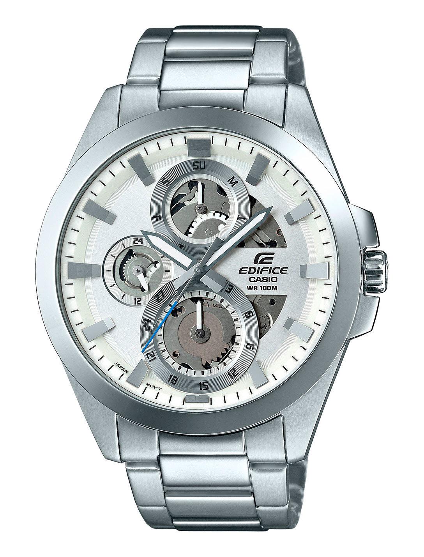 Casio Edifice ESK-300D-7A / ESK-300D-7A - мужские наручные часыCasio<br><br><br>Бренд: Casio<br>Модель: Casio ESK-300D-7A<br>Артикул: ESK-300D-7A<br>Вариант артикула: ESK-300D-7A<br>Коллекция: Edifice<br>Подколлекция: None<br>Страна: Япония<br>Пол: мужские<br>Тип механизма: кварцевые<br>Механизм: None<br>Количество камней: None<br>Автоподзавод: None<br>Источник энергии: от батарейки<br>Срок службы элемента питания: 36 мес<br>Дисплей: стрелки<br>Цифры: отсутствуют<br>Водозащита: WR 100<br>Противоударные: None<br>Материал корпуса: нерж. сталь<br>Материал браслета: нерж. сталь<br>Материал безеля: None<br>Стекло: минеральное<br>Антибликовое покрытие: None<br>Цвет корпуса: None<br>Цвет браслета: None<br>Цвет циферблата: None<br>Цвет безеля: None<br>Размеры: 45.1x50.5x11 мм<br>Диаметр: None<br>Диаметр корпуса: None<br>Толщина: None<br>Ширина ремешка: None<br>Вес: 135 г<br>Спорт-функции: секундомер<br>Подсветка: стрелок<br>Вставка: None<br>Отображение даты: число, день недели<br>Хронограф: None<br>Таймер: None<br>Термометр: None<br>Хронометр: None<br>GPS: None<br>Радиосинхронизация: None<br>Барометр: None<br>Скелетон: да<br>Дополнительная информация: элемент питания SR927SW<br>Дополнительные функции: None