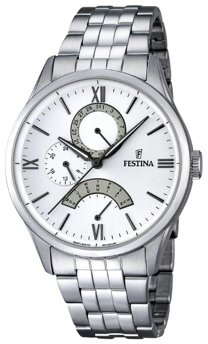 Festina F16822.1 - мужские наручные часы из коллекции RetrogradeFestina<br><br><br>Бренд: Festina<br>Модель: Festina F16822/1<br>Артикул: F16822.1<br>Вариант артикула: None<br>Коллекция: Retrograde<br>Подколлекция: None<br>Страна: Испания<br>Пол: мужские<br>Тип механизма: кварцевые<br>Механизм: MJR10<br>Количество камней: None<br>Автоподзавод: None<br>Источник энергии: от батарейки<br>Срок службы элемента питания: None<br>Дисплей: стрелки<br>Цифры: римские<br>Водозащита: WR 50<br>Противоударные: None<br>Материал корпуса: нерж. сталь<br>Материал браслета: нерж. сталь<br>Материал безеля: None<br>Стекло: минеральное<br>Антибликовое покрытие: None<br>Цвет корпуса: None<br>Цвет браслета: None<br>Цвет циферблата: None<br>Цвет безеля: None<br>Размеры: 43 мм<br>Диаметр: None<br>Диаметр корпуса: None<br>Толщина: None<br>Ширина ремешка: None<br>Вес: None<br>Спорт-функции: None<br>Подсветка: стрелок<br>Вставка: None<br>Отображение даты: число, день недели<br>Хронограф: None<br>Таймер: None<br>Термометр: None<br>Хронометр: None<br>GPS: None<br>Радиосинхронизация: None<br>Барометр: None<br>Скелетон: None<br>Дополнительная информация: None<br>Дополнительные функции: None