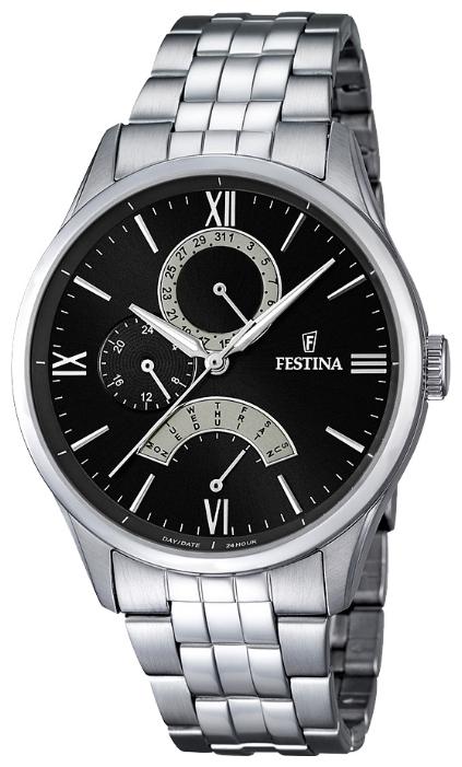 Festina F16822.2 - мужские наручные часы из коллекции RetrogradeFestina<br><br><br>Бренд: Festina<br>Модель: Festina F16822/2<br>Артикул: F16822.2<br>Вариант артикула: None<br>Коллекция: Retrograde<br>Подколлекция: None<br>Страна: Испания<br>Пол: мужские<br>Тип механизма: кварцевые<br>Механизм: MJR10<br>Количество камней: None<br>Автоподзавод: None<br>Источник энергии: от батарейки<br>Срок службы элемента питания: None<br>Дисплей: стрелки<br>Цифры: римские<br>Водозащита: WR 50<br>Противоударные: None<br>Материал корпуса: нерж. сталь<br>Материал браслета: нерж. сталь<br>Материал безеля: None<br>Стекло: минеральное<br>Антибликовое покрытие: None<br>Цвет корпуса: None<br>Цвет браслета: None<br>Цвет циферблата: None<br>Цвет безеля: None<br>Размеры: 43 мм<br>Диаметр: None<br>Диаметр корпуса: None<br>Толщина: None<br>Ширина ремешка: None<br>Вес: None<br>Спорт-функции: None<br>Подсветка: стрелок<br>Вставка: None<br>Отображение даты: число, день недели<br>Хронограф: None<br>Таймер: None<br>Термометр: None<br>Хронометр: None<br>GPS: None<br>Радиосинхронизация: None<br>Барометр: None<br>Скелетон: None<br>Дополнительная информация: None<br>Дополнительные функции: None