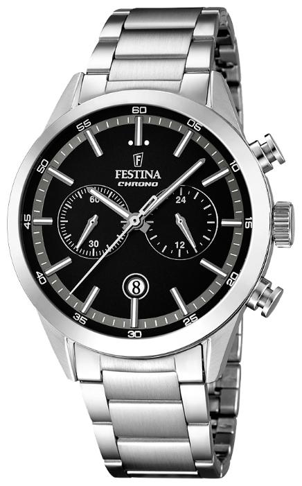 Festina F16826.3 - мужские наручные часы из коллекции ChronographFestina<br><br><br>Бренд: Festina<br>Модель: Festina F16826/3<br>Артикул: F16826.3<br>Вариант артикула: None<br>Коллекция: Chronograph<br>Подколлекция: None<br>Страна: Испания<br>Пол: мужские<br>Тип механизма: кварцевые<br>Механизм: MOS21<br>Количество камней: None<br>Автоподзавод: None<br>Источник энергии: от батарейки<br>Срок службы элемента питания: None<br>Дисплей: стрелки<br>Цифры: отсутствуют<br>Водозащита: WR 50<br>Противоударные: None<br>Материал корпуса: нерж. сталь<br>Материал браслета: нерж. сталь<br>Материал безеля: None<br>Стекло: минеральное<br>Антибликовое покрытие: None<br>Цвет корпуса: None<br>Цвет браслета: None<br>Цвет циферблата: None<br>Цвет безеля: None<br>Размеры: 44 мм<br>Диаметр: None<br>Диаметр корпуса: None<br>Толщина: None<br>Ширина ремешка: None<br>Вес: None<br>Спорт-функции: секундомер<br>Подсветка: стрелок<br>Вставка: None<br>Отображение даты: число<br>Хронограф: есть<br>Таймер: None<br>Термометр: None<br>Хронометр: None<br>GPS: None<br>Радиосинхронизация: None<br>Барометр: None<br>Скелетон: None<br>Дополнительная информация: None<br>Дополнительные функции: None