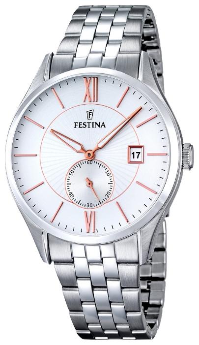 Festina F16871.2 - мужские наручные часы из коллекции ClassicFestina<br><br><br>Бренд: Festina<br>Модель: Festina F16871/2<br>Артикул: F16871.2<br>Вариант артикула: None<br>Коллекция: Classic<br>Подколлекция: None<br>Страна: Испания<br>Пол: мужские<br>Тип механизма: кварцевые<br>Механизм: MGP11<br>Количество камней: None<br>Автоподзавод: None<br>Источник энергии: от батарейки<br>Срок службы элемента питания: None<br>Дисплей: стрелки<br>Цифры: римские<br>Водозащита: WR 50<br>Противоударные: None<br>Материал корпуса: нерж. сталь<br>Материал браслета: нерж. сталь<br>Материал безеля: None<br>Стекло: минеральное<br>Антибликовое покрытие: None<br>Цвет корпуса: None<br>Цвет браслета: None<br>Цвет циферблата: None<br>Цвет безеля: None<br>Размеры: 42 мм<br>Диаметр: None<br>Диаметр корпуса: None<br>Толщина: None<br>Ширина ремешка: None<br>Вес: None<br>Спорт-функции: None<br>Подсветка: None<br>Вставка: None<br>Отображение даты: число<br>Хронограф: None<br>Таймер: None<br>Термометр: None<br>Хронометр: None<br>GPS: None<br>Радиосинхронизация: None<br>Барометр: None<br>Скелетон: None<br>Дополнительная информация: None<br>Дополнительные функции: None