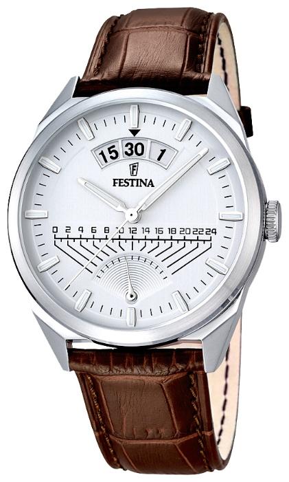 Festina F16873.1 - мужские наручные часы из коллекции RetrogradeFestina<br><br><br>Бренд: Festina<br>Модель: Festina F16873/1<br>Артикул: F16873.1<br>Вариант артикула: None<br>Коллекция: Retrograde<br>Подколлекция: None<br>Страна: Испания<br>Пол: мужские<br>Тип механизма: кварцевые<br>Механизм: MGP00<br>Количество камней: None<br>Автоподзавод: None<br>Источник энергии: от батарейки<br>Срок службы элемента питания: None<br>Дисплей: стрелки<br>Цифры: отсутствуют<br>Водозащита: WR 50<br>Противоударные: None<br>Материал корпуса: нерж. сталь<br>Материал браслета: кожа<br>Материал безеля: None<br>Стекло: минеральное<br>Антибликовое покрытие: None<br>Цвет корпуса: None<br>Цвет браслета: None<br>Цвет циферблата: None<br>Цвет безеля: None<br>Размеры: 42 мм<br>Диаметр: None<br>Диаметр корпуса: None<br>Толщина: None<br>Ширина ремешка: None<br>Вес: None<br>Спорт-функции: None<br>Подсветка: стрелок<br>Вставка: None<br>Отображение даты: число<br>Хронограф: None<br>Таймер: None<br>Термометр: None<br>Хронометр: None<br>GPS: None<br>Радиосинхронизация: None<br>Барометр: None<br>Скелетон: None<br>Дополнительная информация: None<br>Дополнительные функции: None