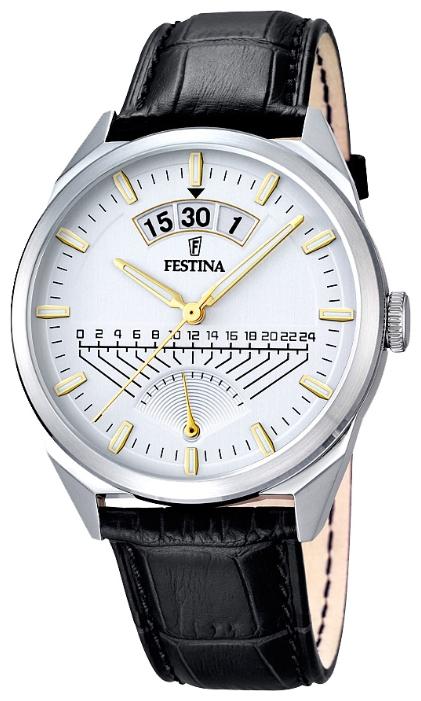 Festina F16873.2 - мужские наручные часы из коллекции RetrogradeFestina<br><br><br>Бренд: Festina<br>Модель: Festina F16873/2<br>Артикул: F16873.2<br>Вариант артикула: None<br>Коллекция: Retrograde<br>Подколлекция: None<br>Страна: Испания<br>Пол: мужские<br>Тип механизма: кварцевые<br>Механизм: MGP00<br>Количество камней: None<br>Автоподзавод: None<br>Источник энергии: от батарейки<br>Срок службы элемента питания: None<br>Дисплей: стрелки<br>Цифры: отсутствуют<br>Водозащита: WR 50<br>Противоударные: None<br>Материал корпуса: нерж. сталь<br>Материал браслета: кожа<br>Материал безеля: None<br>Стекло: минеральное<br>Антибликовое покрытие: None<br>Цвет корпуса: None<br>Цвет браслета: None<br>Цвет циферблата: None<br>Цвет безеля: None<br>Размеры: 42 мм<br>Диаметр: None<br>Диаметр корпуса: None<br>Толщина: None<br>Ширина ремешка: None<br>Вес: None<br>Спорт-функции: None<br>Подсветка: стрелок<br>Вставка: None<br>Отображение даты: число<br>Хронограф: None<br>Таймер: None<br>Термометр: None<br>Хронометр: None<br>GPS: None<br>Радиосинхронизация: None<br>Барометр: None<br>Скелетон: None<br>Дополнительная информация: None<br>Дополнительные функции: None
