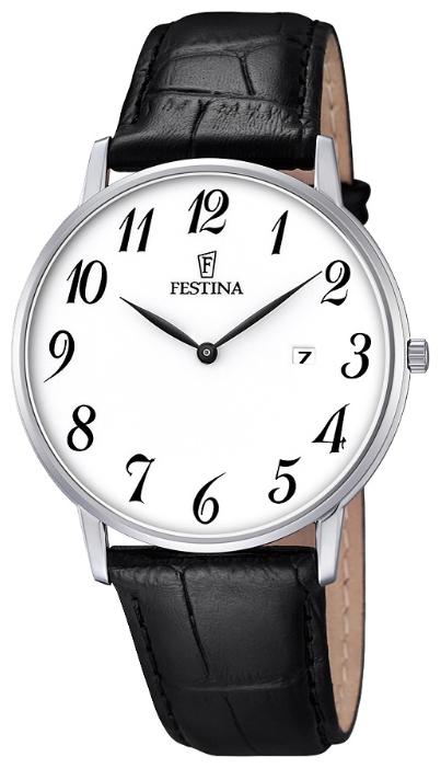 Festina F6831.1 - мужские наручные часы из коллекции ClassicFestina<br><br><br>Бренд: Festina<br>Модель: Festina F6831/1<br>Артикул: F6831.1<br>Вариант артикула: None<br>Коллекция: Classic<br>Подколлекция: None<br>Страна: Испания<br>Пол: мужские<br>Тип механизма: кварцевые<br>Механизм: M9U15<br>Количество камней: None<br>Автоподзавод: None<br>Источник энергии: от батарейки<br>Срок службы элемента питания: None<br>Дисплей: стрелки<br>Цифры: арабские<br>Водозащита: WR 30<br>Противоударные: None<br>Материал корпуса: нерж. сталь<br>Материал браслета: кожа<br>Материал безеля: None<br>Стекло: минеральное<br>Антибликовое покрытие: None<br>Цвет корпуса: None<br>Цвет браслета: None<br>Цвет циферблата: None<br>Цвет безеля: None<br>Размеры: 40 мм<br>Диаметр: None<br>Диаметр корпуса: None<br>Толщина: None<br>Ширина ремешка: None<br>Вес: None<br>Спорт-функции: None<br>Подсветка: None<br>Вставка: None<br>Отображение даты: число<br>Хронограф: None<br>Таймер: None<br>Термометр: None<br>Хронометр: None<br>GPS: None<br>Радиосинхронизация: None<br>Барометр: None<br>Скелетон: None<br>Дополнительная информация: None<br>Дополнительные функции: None