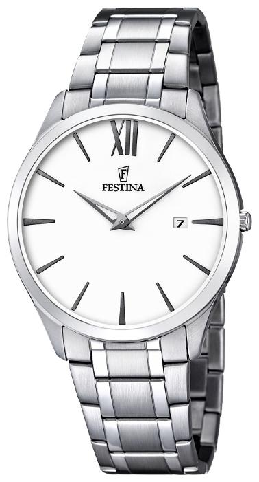 Festina F6832.1 - мужские наручные часы из коллекции ClassicFestina<br><br><br>Бренд: Festina<br>Модель: Festina F6832/1<br>Артикул: F6832.1<br>Вариант артикула: None<br>Коллекция: Classic<br>Подколлекция: None<br>Страна: Испания<br>Пол: мужские<br>Тип механизма: кварцевые<br>Механизм: M9U15<br>Количество камней: None<br>Автоподзавод: None<br>Источник энергии: от батарейки<br>Срок службы элемента питания: None<br>Дисплей: стрелки<br>Цифры: римские<br>Водозащита: WR 30<br>Противоударные: None<br>Материал корпуса: нерж. сталь<br>Материал браслета: нерж. сталь<br>Материал безеля: None<br>Стекло: минеральное<br>Антибликовое покрытие: None<br>Цвет корпуса: None<br>Цвет браслета: None<br>Цвет циферблата: None<br>Цвет безеля: None<br>Размеры: 40 мм<br>Диаметр: None<br>Диаметр корпуса: None<br>Толщина: None<br>Ширина ремешка: None<br>Вес: None<br>Спорт-функции: None<br>Подсветка: None<br>Вставка: None<br>Отображение даты: число<br>Хронограф: None<br>Таймер: None<br>Термометр: None<br>Хронометр: None<br>GPS: None<br>Радиосинхронизация: None<br>Барометр: None<br>Скелетон: None<br>Дополнительная информация: None<br>Дополнительные функции: None