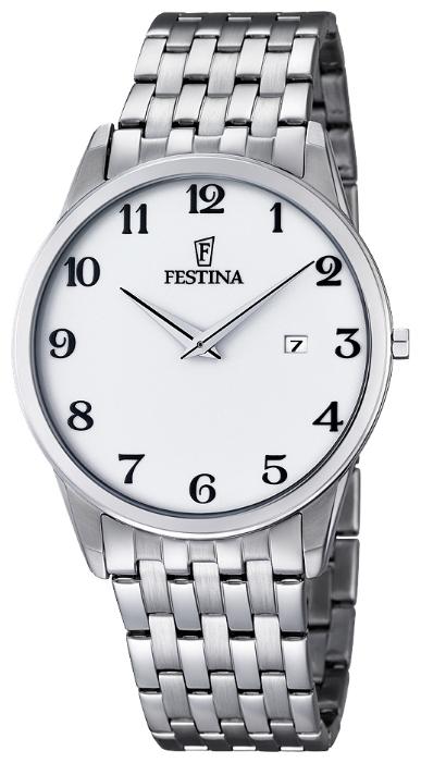 Festina F6833.3 - мужские наручные часы из коллекции ClassicFestina<br><br><br>Бренд: Festina<br>Модель: Festina F6833/3<br>Артикул: F6833.3<br>Вариант артикула: None<br>Коллекция: Classic<br>Подколлекция: None<br>Страна: Испания<br>Пол: мужские<br>Тип механизма: кварцевые<br>Механизм: M9U15<br>Количество камней: None<br>Автоподзавод: None<br>Источник энергии: от батарейки<br>Срок службы элемента питания: None<br>Дисплей: стрелки<br>Цифры: арабские<br>Водозащита: WR 30<br>Противоударные: None<br>Материал корпуса: нерж. сталь<br>Материал браслета: нерж. сталь<br>Материал безеля: None<br>Стекло: минеральное<br>Антибликовое покрытие: None<br>Цвет корпуса: None<br>Цвет браслета: None<br>Цвет циферблата: None<br>Цвет безеля: None<br>Размеры: 40 мм<br>Диаметр: None<br>Диаметр корпуса: None<br>Толщина: None<br>Ширина ремешка: None<br>Вес: None<br>Спорт-функции: None<br>Подсветка: None<br>Вставка: None<br>Отображение даты: число<br>Хронограф: None<br>Таймер: None<br>Термометр: None<br>Хронометр: None<br>GPS: None<br>Радиосинхронизация: None<br>Барометр: None<br>Скелетон: None<br>Дополнительная информация: None<br>Дополнительные функции: None