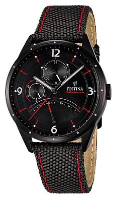 Festina F16849.2 - мужские наручные часы из коллекции RetrogradeFestina<br><br><br>Бренд: Festina<br>Модель: Festina F16849/2<br>Артикул: F16849.2<br>Вариант артикула: None<br>Коллекция: Retrograde<br>Подколлекция: None<br>Страна: Испания<br>Пол: мужские<br>Тип механизма: кварцевые<br>Механизм: MJR10<br>Количество камней: None<br>Автоподзавод: None<br>Источник энергии: от батарейки<br>Срок службы элемента питания: None<br>Дисплей: стрелки<br>Цифры: арабские<br>Водозащита: WR 50<br>Противоударные: None<br>Материал корпуса: нерж. сталь, полное покрытие корпуса<br>Материал браслета: текстиль<br>Материал безеля: None<br>Стекло: минеральное<br>Антибликовое покрытие: None<br>Цвет корпуса: None<br>Цвет браслета: None<br>Цвет циферблата: None<br>Цвет безеля: None<br>Размеры: 41 мм<br>Диаметр: None<br>Диаметр корпуса: None<br>Толщина: None<br>Ширина ремешка: None<br>Вес: None<br>Спорт-функции: None<br>Подсветка: None<br>Вставка: None<br>Отображение даты: число, день недели<br>Хронограф: None<br>Таймер: None<br>Термометр: None<br>Хронометр: None<br>GPS: None<br>Радиосинхронизация: None<br>Барометр: None<br>Скелетон: None<br>Дополнительная информация: None<br>Дополнительные функции: None