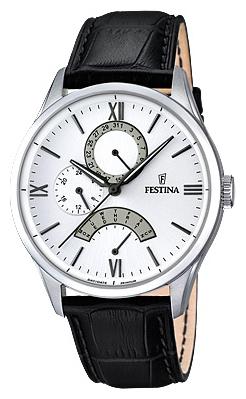 Festina F16823.1 - мужские наручные часы из коллекции RetrogradeFestina<br><br><br>Бренд: Festina<br>Модель: Festina F16823/1<br>Артикул: F16823.1<br>Вариант артикула: None<br>Коллекция: Retrograde<br>Подколлекция: None<br>Страна: Испания<br>Пол: мужские<br>Тип механизма: кварцевые<br>Механизм: MJR10<br>Количество камней: None<br>Автоподзавод: None<br>Источник энергии: от батарейки<br>Срок службы элемента питания: None<br>Дисплей: стрелки<br>Цифры: римские<br>Водозащита: WR 50<br>Противоударные: None<br>Материал корпуса: нерж. сталь<br>Материал браслета: кожа<br>Материал безеля: None<br>Стекло: минеральное<br>Антибликовое покрытие: None<br>Цвет корпуса: None<br>Цвет браслета: None<br>Цвет циферблата: None<br>Цвет безеля: None<br>Размеры: 43 мм<br>Диаметр: None<br>Диаметр корпуса: None<br>Толщина: None<br>Ширина ремешка: None<br>Вес: None<br>Спорт-функции: None<br>Подсветка: стрелок<br>Вставка: None<br>Отображение даты: число, день недели<br>Хронограф: None<br>Таймер: None<br>Термометр: None<br>Хронометр: None<br>GPS: None<br>Радиосинхронизация: None<br>Барометр: None<br>Скелетон: None<br>Дополнительная информация: None<br>Дополнительные функции: None