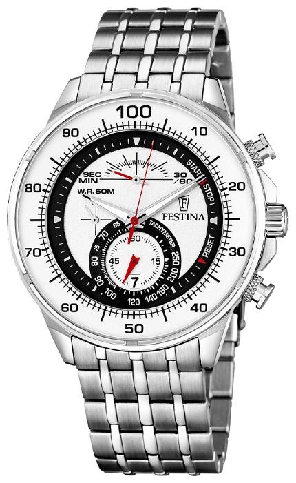 Festina F6830.1 - мужские наручные часы из коллекции ChronographFestina<br><br><br>Бренд: Festina<br>Модель: Festina F6830/1<br>Артикул: F6830.1<br>Вариант артикула: None<br>Коллекция: Chronograph<br>Подколлекция: None<br>Страна: Испания<br>Пол: мужские<br>Тип механизма: кварцевые<br>Механизм: M0S90<br>Количество камней: None<br>Автоподзавод: None<br>Источник энергии: от батарейки<br>Срок службы элемента питания: None<br>Дисплей: стрелки<br>Цифры: отсутствуют<br>Водозащита: WR 50<br>Противоударные: None<br>Материал корпуса: нерж. сталь<br>Материал браслета: нерж. сталь<br>Материал безеля: None<br>Стекло: минеральное<br>Антибликовое покрытие: None<br>Цвет корпуса: None<br>Цвет браслета: None<br>Цвет циферблата: None<br>Цвет безеля: None<br>Размеры: 45 мм<br>Диаметр: None<br>Диаметр корпуса: None<br>Толщина: None<br>Ширина ремешка: None<br>Вес: None<br>Спорт-функции: секундомер<br>Подсветка: стрелок<br>Вставка: None<br>Отображение даты: число<br>Хронограф: есть<br>Таймер: None<br>Термометр: None<br>Хронометр: None<br>GPS: None<br>Радиосинхронизация: None<br>Барометр: None<br>Скелетон: None<br>Дополнительная информация: None<br>Дополнительные функции: None
