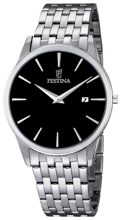 Festina F6833.2 - мужские наручные часы из коллекции ClassicFestina<br><br><br>Бренд: Festina<br>Модель: Festina F6833/2<br>Артикул: F6833.2<br>Вариант артикула: None<br>Коллекция: Classic<br>Подколлекция: None<br>Страна: Испания<br>Пол: мужские<br>Тип механизма: кварцевые<br>Механизм: M9U15<br>Количество камней: None<br>Автоподзавод: None<br>Источник энергии: от батарейки<br>Срок службы элемента питания: None<br>Дисплей: стрелки<br>Цифры: отсутствуют<br>Водозащита: WR 30<br>Противоударные: None<br>Материал корпуса: нерж. сталь<br>Материал браслета: нерж. сталь<br>Материал безеля: None<br>Стекло: минеральное<br>Антибликовое покрытие: None<br>Цвет корпуса: None<br>Цвет браслета: None<br>Цвет циферблата: None<br>Цвет безеля: None<br>Размеры: 40 мм<br>Диаметр: None<br>Диаметр корпуса: None<br>Толщина: None<br>Ширина ремешка: None<br>Вес: None<br>Спорт-функции: None<br>Подсветка: None<br>Вставка: None<br>Отображение даты: число<br>Хронограф: None<br>Таймер: None<br>Термометр: None<br>Хронометр: None<br>GPS: None<br>Радиосинхронизация: None<br>Барометр: None<br>Скелетон: None<br>Дополнительная информация: None<br>Дополнительные функции: None