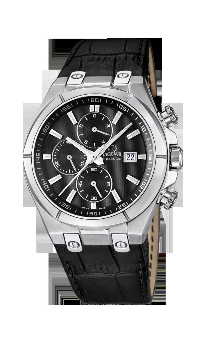 Jaguar J667_4 - мужские наручные часыJaguar<br><br><br>Бренд: Jaguar<br>Модель: Jaguar J667_4<br>Артикул: J667_4<br>Вариант артикула: None<br>Коллекция: None<br>Подколлекция: None<br>Страна: Швейцария<br>Пол: мужские<br>Тип механизма: кварцевые<br>Механизм: None<br>Количество камней: None<br>Автоподзавод: None<br>Источник энергии: от батарейки<br>Срок службы элемента питания: None<br>Дисплей: стрелки<br>Цифры: отсутствуют<br>Водозащита: WR 100<br>Противоударные: None<br>Материал корпуса: нерж. сталь<br>Материал браслета: кожа<br>Материал безеля: None<br>Стекло: сапфировое<br>Антибликовое покрытие: None<br>Цвет корпуса: None<br>Цвет браслета: None<br>Цвет циферблата: None<br>Цвет безеля: None<br>Размеры: 44x12 мм<br>Диаметр: None<br>Диаметр корпуса: None<br>Толщина: None<br>Ширина ремешка: None<br>Вес: None<br>Спорт-функции: секундомер<br>Подсветка: стрелок<br>Вставка: None<br>Отображение даты: число<br>Хронограф: есть<br>Таймер: None<br>Термометр: None<br>Хронометр: None<br>GPS: None<br>Радиосинхронизация: None<br>Барометр: None<br>Скелетон: None<br>Дополнительная информация: None<br>Дополнительные функции: None
