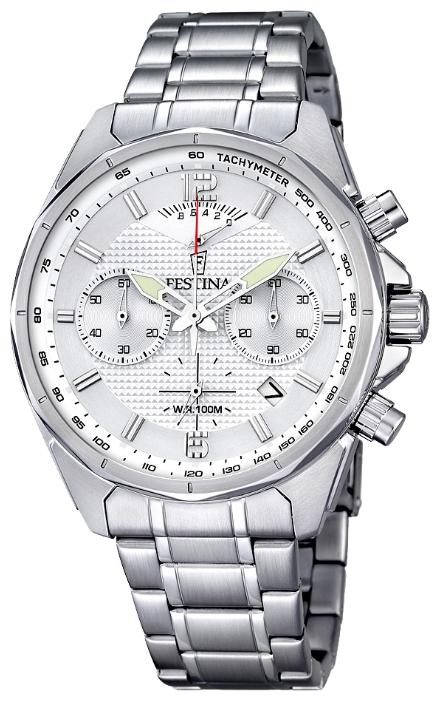 Festina F6835.1 - мужские наручные часы из коллекции ChronographFestina<br><br><br>Бренд: Festina<br>Модель: Festina F6835/1<br>Артикул: F6835.1<br>Вариант артикула: None<br>Коллекция: Chronograph<br>Подколлекция: None<br>Страна: Испания<br>Пол: мужские<br>Тип механизма: кварцевые<br>Механизм: M6SA2<br>Количество камней: None<br>Автоподзавод: None<br>Источник энергии: от батарейки<br>Срок службы элемента питания: None<br>Дисплей: стрелки<br>Цифры: арабские<br>Водозащита: WR 100<br>Противоударные: None<br>Материал корпуса: нерж. сталь<br>Материал браслета: нерж. сталь<br>Материал безеля: None<br>Стекло: минеральное<br>Антибликовое покрытие: None<br>Цвет корпуса: None<br>Цвет браслета: None<br>Цвет циферблата: None<br>Цвет безеля: None<br>Размеры: 47 мм<br>Диаметр: None<br>Диаметр корпуса: None<br>Толщина: None<br>Ширина ремешка: None<br>Вес: None<br>Спорт-функции: секундомер<br>Подсветка: стрелок<br>Вставка: None<br>Отображение даты: число<br>Хронограф: есть<br>Таймер: None<br>Термометр: None<br>Хронометр: None<br>GPS: None<br>Радиосинхронизация: None<br>Барометр: None<br>Скелетон: None<br>Дополнительная информация: None<br>Дополнительные функции: None