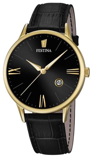 Festina F16825.4 - мужские наручные часы из коллекции ClassicFestina<br><br><br>Бренд: Festina<br>Модель: Festina F16825/4<br>Артикул: F16825.4<br>Вариант артикула: None<br>Коллекция: Classic<br>Подколлекция: None<br>Страна: Испания<br>Пол: мужские<br>Тип механизма: кварцевые<br>Механизм: MGM10<br>Количество камней: None<br>Автоподзавод: None<br>Источник энергии: от батарейки<br>Срок службы элемента питания: None<br>Дисплей: стрелки<br>Цифры: римские<br>Водозащита: WR 50<br>Противоударные: None<br>Материал корпуса: нерж. сталь, PVD покрытие (полное)<br>Материал браслета: кожа<br>Материал безеля: None<br>Стекло: минеральное<br>Антибликовое покрытие: None<br>Цвет корпуса: None<br>Цвет браслета: None<br>Цвет циферблата: None<br>Цвет безеля: None<br>Размеры: 42 мм<br>Диаметр: None<br>Диаметр корпуса: None<br>Толщина: None<br>Ширина ремешка: None<br>Вес: None<br>Спорт-функции: None<br>Подсветка: стрелок<br>Вставка: None<br>Отображение даты: число<br>Хронограф: None<br>Таймер: None<br>Термометр: None<br>Хронометр: None<br>GPS: None<br>Радиосинхронизация: None<br>Барометр: None<br>Скелетон: None<br>Дополнительная информация: None<br>Дополнительные функции: None