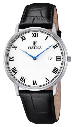 Festina F6831.3 - мужские наручные часы из коллекции ClassicFestina<br><br><br>Бренд: Festina<br>Модель: Festina F6831/3<br>Артикул: F6831.3<br>Вариант артикула: None<br>Коллекция: Classic<br>Подколлекция: None<br>Страна: Испания<br>Пол: мужские<br>Тип механизма: кварцевые<br>Механизм: None<br>Количество камней: None<br>Автоподзавод: None<br>Источник энергии: от батарейки<br>Срок службы элемента питания: None<br>Дисплей: стрелки<br>Цифры: римские<br>Водозащита: WR 30<br>Противоударные: None<br>Материал корпуса: нерж. сталь<br>Материал браслета: кожа (не указан)<br>Материал безеля: None<br>Стекло: минеральное<br>Антибликовое покрытие: None<br>Цвет корпуса: None<br>Цвет браслета: None<br>Цвет циферблата: None<br>Цвет безеля: None<br>Размеры: 40 мм<br>Диаметр: None<br>Диаметр корпуса: None<br>Толщина: None<br>Ширина ремешка: None<br>Вес: None<br>Спорт-функции: None<br>Подсветка: None<br>Вставка: None<br>Отображение даты: число<br>Хронограф: None<br>Таймер: None<br>Термометр: None<br>Хронометр: None<br>GPS: None<br>Радиосинхронизация: None<br>Барометр: None<br>Скелетон: None<br>Дополнительная информация: None<br>Дополнительные функции: None