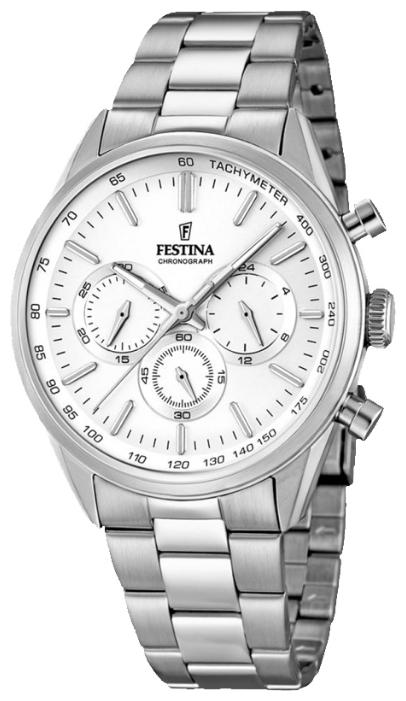 Festina F16820.1 - мужские наручные часы из коллекции ChronographFestina<br><br><br>Бренд: Festina<br>Модель: Festina F16820/1<br>Артикул: F16820.1<br>Вариант артикула: None<br>Коллекция: Chronograph<br>Подколлекция: None<br>Страна: Испания<br>Пол: мужские<br>Тип механизма: кварцевые<br>Механизм: MJS20<br>Количество камней: None<br>Автоподзавод: None<br>Источник энергии: от батарейки<br>Срок службы элемента питания: None<br>Дисплей: стрелки<br>Цифры: отсутствуют<br>Водозащита: WR 50<br>Противоударные: None<br>Материал корпуса: нерж. сталь<br>Материал браслета: нерж. сталь<br>Материал безеля: None<br>Стекло: минеральное<br>Антибликовое покрытие: None<br>Цвет корпуса: None<br>Цвет браслета: None<br>Цвет циферблата: None<br>Цвет безеля: None<br>Размеры: 44x11 мм<br>Диаметр: None<br>Диаметр корпуса: None<br>Толщина: None<br>Ширина ремешка: None<br>Вес: None<br>Спорт-функции: секундомер<br>Подсветка: стрелок<br>Вставка: None<br>Отображение даты: None<br>Хронограф: есть<br>Таймер: None<br>Термометр: None<br>Хронометр: None<br>GPS: None<br>Радиосинхронизация: None<br>Барометр: None<br>Скелетон: None<br>Дополнительная информация: None<br>Дополнительные функции: None