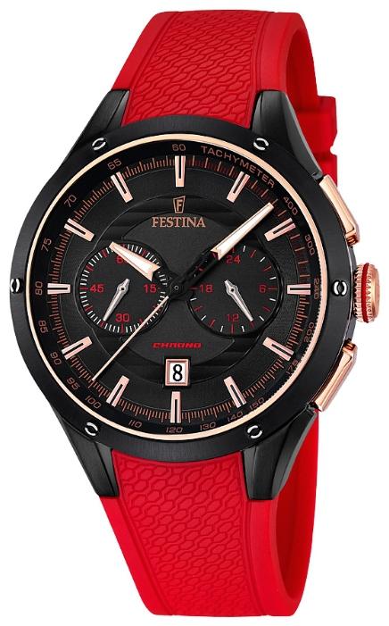 Festina F16833.1 - мужские наручные часы из коллекции ChronographFestina<br><br><br>Бренд: Festina<br>Модель: Festina F16833/1<br>Артикул: F16833.1<br>Вариант артикула: None<br>Коллекция: Chronograph<br>Подколлекция: None<br>Страна: Испания<br>Пол: мужские<br>Тип механизма: кварцевые<br>Механизм: MOS21<br>Количество камней: None<br>Автоподзавод: None<br>Источник энергии: от батарейки<br>Срок службы элемента питания: None<br>Дисплей: стрелки<br>Цифры: отсутствуют<br>Водозащита: WR 50<br>Противоударные: None<br>Материал корпуса: нерж. сталь, полное покрытие корпуса<br>Материал браслета: полиуретан<br>Материал безеля: None<br>Стекло: минеральное<br>Антибликовое покрытие: None<br>Цвет корпуса: None<br>Цвет браслета: None<br>Цвет циферблата: None<br>Цвет безеля: None<br>Размеры: 44 мм<br>Диаметр: None<br>Диаметр корпуса: None<br>Толщина: None<br>Ширина ремешка: None<br>Вес: None<br>Спорт-функции: секундомер<br>Подсветка: стрелок<br>Вставка: None<br>Отображение даты: число<br>Хронограф: есть<br>Таймер: None<br>Термометр: None<br>Хронометр: None<br>GPS: None<br>Радиосинхронизация: None<br>Барометр: None<br>Скелетон: None<br>Дополнительная информация: None<br>Дополнительные функции: None