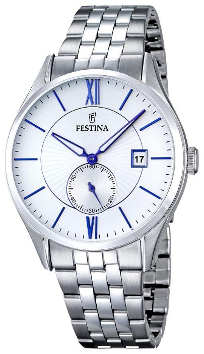 Festina F16871.1 - мужские наручные часы из коллекции ClassicFestina<br><br><br>Бренд: Festina<br>Модель: Festina F16871/1<br>Артикул: F16871.1<br>Вариант артикула: None<br>Коллекция: Classic<br>Подколлекция: None<br>Страна: Испания<br>Пол: мужские<br>Тип механизма: кварцевые<br>Механизм: MGP11<br>Количество камней: None<br>Автоподзавод: None<br>Источник энергии: от батарейки<br>Срок службы элемента питания: None<br>Дисплей: стрелки<br>Цифры: римские<br>Водозащита: WR 50<br>Противоударные: None<br>Материал корпуса: нерж. сталь<br>Материал браслета: нерж. сталь<br>Материал безеля: None<br>Стекло: минеральное<br>Антибликовое покрытие: None<br>Цвет корпуса: None<br>Цвет браслета: None<br>Цвет циферблата: None<br>Цвет безеля: None<br>Размеры: 42 мм<br>Диаметр: None<br>Диаметр корпуса: None<br>Толщина: None<br>Ширина ремешка: None<br>Вес: None<br>Спорт-функции: None<br>Подсветка: None<br>Вставка: None<br>Отображение даты: число<br>Хронограф: None<br>Таймер: None<br>Термометр: None<br>Хронометр: None<br>GPS: None<br>Радиосинхронизация: None<br>Барометр: None<br>Скелетон: None<br>Дополнительная информация: None<br>Дополнительные функции: None