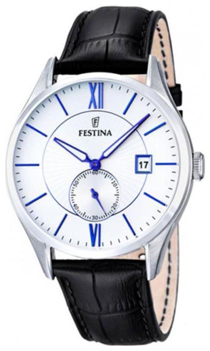 Festina F16872.1 - мужские наручные часы из коллекции ClassicFestina<br><br><br>Бренд: Festina<br>Модель: Festina F16872/1<br>Артикул: F16872.1<br>Вариант артикула: None<br>Коллекция: Classic<br>Подколлекция: None<br>Страна: Испания<br>Пол: мужские<br>Тип механизма: кварцевые<br>Механизм: None<br>Количество камней: None<br>Автоподзавод: None<br>Источник энергии: от батарейки<br>Срок службы элемента питания: None<br>Дисплей: стрелки<br>Цифры: римские<br>Водозащита: WR 50<br>Противоударные: None<br>Материал корпуса: нерж. сталь<br>Материал браслета: кожа (не указан)<br>Материал безеля: None<br>Стекло: минеральное<br>Антибликовое покрытие: None<br>Цвет корпуса: None<br>Цвет браслета: None<br>Цвет циферблата: None<br>Цвет безеля: None<br>Размеры: 42 мм<br>Диаметр: None<br>Диаметр корпуса: None<br>Толщина: None<br>Ширина ремешка: None<br>Вес: None<br>Спорт-функции: None<br>Подсветка: стрелок<br>Вставка: None<br>Отображение даты: число<br>Хронограф: None<br>Таймер: None<br>Термометр: None<br>Хронометр: None<br>GPS: None<br>Радиосинхронизация: None<br>Барометр: None<br>Скелетон: None<br>Дополнительная информация: None<br>Дополнительные функции: None