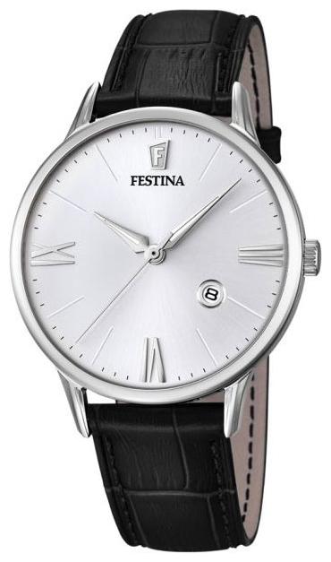 Festina F16824.1 - мужские наручные часы из коллекции ClassicFestina<br><br><br>Бренд: Festina<br>Модель: Festina F16824/1<br>Артикул: F16824.1<br>Вариант артикула: None<br>Коллекция: Classic<br>Подколлекция: None<br>Страна: Испания<br>Пол: мужские<br>Тип механизма: кварцевые<br>Механизм: None<br>Количество камней: None<br>Автоподзавод: None<br>Источник энергии: от батарейки<br>Срок службы элемента питания: None<br>Дисплей: стрелки<br>Цифры: римские<br>Водозащита: WR 50<br>Противоударные: None<br>Материал корпуса: нерж. сталь<br>Материал браслета: кожа (не указан)<br>Материал безеля: None<br>Стекло: минеральное<br>Антибликовое покрытие: None<br>Цвет корпуса: None<br>Цвет браслета: None<br>Цвет циферблата: None<br>Цвет безеля: None<br>Размеры: 42 мм<br>Диаметр: None<br>Диаметр корпуса: None<br>Толщина: None<br>Ширина ремешка: None<br>Вес: None<br>Спорт-функции: None<br>Подсветка: стрелок<br>Вставка: None<br>Отображение даты: число<br>Хронограф: None<br>Таймер: None<br>Термометр: None<br>Хронометр: None<br>GPS: None<br>Радиосинхронизация: None<br>Барометр: None<br>Скелетон: None<br>Дополнительная информация: None<br>Дополнительные функции: None