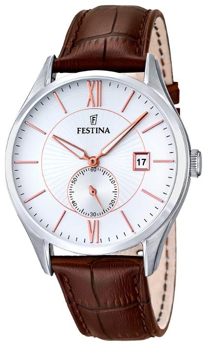 Festina F16872.2 - мужские наручные часы из коллекции ClassicFestina<br><br><br>Бренд: Festina<br>Модель: Festina F16872/2<br>Артикул: F16872.2<br>Вариант артикула: None<br>Коллекция: Classic<br>Подколлекция: None<br>Страна: Испания<br>Пол: мужские<br>Тип механизма: кварцевые<br>Механизм: MGP11<br>Количество камней: None<br>Автоподзавод: None<br>Источник энергии: от батарейки<br>Срок службы элемента питания: None<br>Дисплей: стрелки<br>Цифры: римские<br>Водозащита: WR 50<br>Противоударные: None<br>Материал корпуса: нерж. сталь<br>Материал браслета: кожа<br>Материал безеля: None<br>Стекло: минеральное<br>Антибликовое покрытие: None<br>Цвет корпуса: None<br>Цвет браслета: None<br>Цвет циферблата: None<br>Цвет безеля: None<br>Размеры: 42 мм<br>Диаметр: None<br>Диаметр корпуса: None<br>Толщина: None<br>Ширина ремешка: None<br>Вес: None<br>Спорт-функции: None<br>Подсветка: None<br>Вставка: None<br>Отображение даты: число<br>Хронограф: None<br>Таймер: None<br>Термометр: None<br>Хронометр: None<br>GPS: None<br>Радиосинхронизация: None<br>Барометр: None<br>Скелетон: None<br>Дополнительная информация: None<br>Дополнительные функции: None