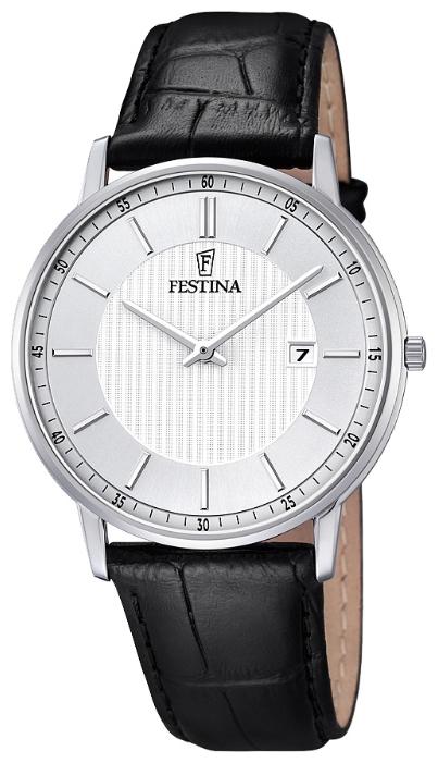 Festina F6831.2 - мужские наручные часы из коллекции ClassicFestina<br><br><br>Бренд: Festina<br>Модель: Festina F6831/2<br>Артикул: F6831.2<br>Вариант артикула: None<br>Коллекция: Classic<br>Подколлекция: None<br>Страна: Испания<br>Пол: мужские<br>Тип механизма: кварцевые<br>Механизм: M9U15<br>Количество камней: None<br>Автоподзавод: None<br>Источник энергии: от батарейки<br>Срок службы элемента питания: None<br>Дисплей: стрелки<br>Цифры: отсутствуют<br>Водозащита: WR 30<br>Противоударные: None<br>Материал корпуса: нерж. сталь<br>Материал браслета: кожа<br>Материал безеля: None<br>Стекло: минеральное<br>Антибликовое покрытие: None<br>Цвет корпуса: None<br>Цвет браслета: None<br>Цвет циферблата: None<br>Цвет безеля: None<br>Размеры: 40 мм<br>Диаметр: None<br>Диаметр корпуса: None<br>Толщина: None<br>Ширина ремешка: None<br>Вес: None<br>Спорт-функции: None<br>Подсветка: None<br>Вставка: None<br>Отображение даты: число<br>Хронограф: None<br>Таймер: None<br>Термометр: None<br>Хронометр: None<br>GPS: None<br>Радиосинхронизация: None<br>Барометр: None<br>Скелетон: None<br>Дополнительная информация: None<br>Дополнительные функции: None