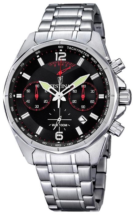 Festina F6835.2 - мужские наручные часы из коллекции ChronographFestina<br><br><br>Бренд: Festina<br>Модель: Festina F6835/2<br>Артикул: F6835.2<br>Вариант артикула: None<br>Коллекция: Chronograph<br>Подколлекция: None<br>Страна: Испания<br>Пол: мужские<br>Тип механизма: кварцевые<br>Механизм: M6SA2<br>Количество камней: None<br>Автоподзавод: None<br>Источник энергии: от батарейки<br>Срок службы элемента питания: None<br>Дисплей: стрелки<br>Цифры: арабские<br>Водозащита: WR 100<br>Противоударные: None<br>Материал корпуса: нерж. сталь<br>Материал браслета: нерж. сталь<br>Материал безеля: None<br>Стекло: минеральное<br>Антибликовое покрытие: None<br>Цвет корпуса: None<br>Цвет браслета: None<br>Цвет циферблата: None<br>Цвет безеля: None<br>Размеры: 47 мм<br>Диаметр: None<br>Диаметр корпуса: None<br>Толщина: None<br>Ширина ремешка: None<br>Вес: None<br>Спорт-функции: секундомер<br>Подсветка: стрелок<br>Вставка: None<br>Отображение даты: число<br>Хронограф: есть<br>Таймер: None<br>Термометр: None<br>Хронометр: None<br>GPS: None<br>Радиосинхронизация: None<br>Барометр: None<br>Скелетон: None<br>Дополнительная информация: None<br>Дополнительные функции: None