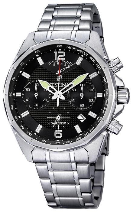 Festina F6835.4 - мужские наручные часы из коллекции ChronographFestina<br><br><br>Бренд: Festina<br>Модель: Festina F6835/4<br>Артикул: F6835.4<br>Вариант артикула: None<br>Коллекция: Chronograph<br>Подколлекция: None<br>Страна: Испания<br>Пол: мужские<br>Тип механизма: кварцевые<br>Механизм: M6SA2<br>Количество камней: None<br>Автоподзавод: None<br>Источник энергии: от батарейки<br>Срок службы элемента питания: None<br>Дисплей: стрелки<br>Цифры: арабские<br>Водозащита: WR 100<br>Противоударные: None<br>Материал корпуса: нерж. сталь<br>Материал браслета: нерж. сталь<br>Материал безеля: None<br>Стекло: минеральное<br>Антибликовое покрытие: None<br>Цвет корпуса: None<br>Цвет браслета: None<br>Цвет циферблата: None<br>Цвет безеля: None<br>Размеры: 47 мм<br>Диаметр: None<br>Диаметр корпуса: None<br>Толщина: None<br>Ширина ремешка: None<br>Вес: None<br>Спорт-функции: секундомер<br>Подсветка: стрелок<br>Вставка: None<br>Отображение даты: число<br>Хронограф: есть<br>Таймер: None<br>Термометр: None<br>Хронометр: None<br>GPS: None<br>Радиосинхронизация: None<br>Барометр: None<br>Скелетон: None<br>Дополнительная информация: None<br>Дополнительные функции: None