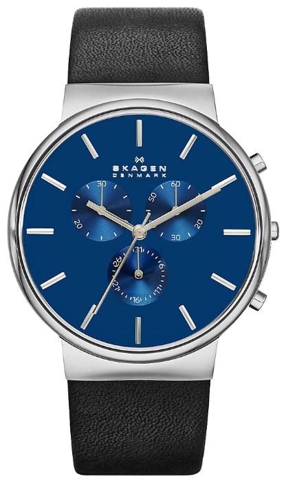 Skagen SKW6105 - мужские наручные часы из коллекции LeatherSkagen<br><br><br>Бренд: Skagen<br>Модель: Skagen SKW6105<br>Артикул: SKW6105<br>Вариант артикула: None<br>Коллекция: Leather<br>Подколлекция: None<br>Страна: Дания<br>Пол: мужские<br>Тип механизма: кварцевые<br>Механизм: None<br>Количество камней: None<br>Автоподзавод: None<br>Источник энергии: от батарейки<br>Срок службы элемента питания: None<br>Дисплей: стрелки<br>Цифры: отсутствуют<br>Водозащита: WR 30<br>Противоударные: None<br>Материал корпуса: нерж. сталь<br>Материал браслета: кожа<br>Материал безеля: None<br>Стекло: минеральное<br>Антибликовое покрытие: None<br>Цвет корпуса: None<br>Цвет браслета: None<br>Цвет циферблата: None<br>Цвет безеля: None<br>Размеры: None<br>Диаметр: None<br>Диаметр корпуса: None<br>Толщина: None<br>Ширина ремешка: None<br>Вес: None<br>Спорт-функции: секундомер<br>Подсветка: None<br>Вставка: None<br>Отображение даты: число<br>Хронограф: есть<br>Таймер: None<br>Термометр: None<br>Хронометр: None<br>GPS: None<br>Радиосинхронизация: None<br>Барометр: None<br>Скелетон: None<br>Дополнительная информация: None<br>Дополнительные функции: None