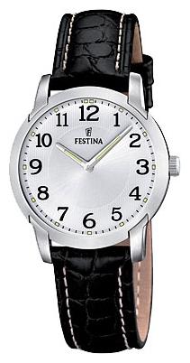 Festina F16507.1 - женские наручные часы из коллекции ClassicFestina<br><br><br>Бренд: Festina<br>Модель: Festina F16507/1<br>Артикул: F16507.1<br>Вариант артикула: None<br>Коллекция: Classic<br>Подколлекция: None<br>Страна: Испания<br>Пол: женские<br>Тип механизма: кварцевые<br>Механизм: None<br>Количество камней: None<br>Автоподзавод: None<br>Источник энергии: от батарейки<br>Срок службы элемента питания: None<br>Дисплей: стрелки<br>Цифры: арабские<br>Водозащита: WR 50<br>Противоударные: None<br>Материал корпуса: нерж. сталь<br>Материал браслета: кожа (не указан)<br>Материал безеля: None<br>Стекло: минеральное<br>Антибликовое покрытие: None<br>Цвет корпуса: None<br>Цвет браслета: None<br>Цвет циферблата: None<br>Цвет безеля: None<br>Размеры: 31 мм<br>Диаметр: None<br>Диаметр корпуса: None<br>Толщина: None<br>Ширина ремешка: None<br>Вес: None<br>Спорт-функции: None<br>Подсветка: стрелок<br>Вставка: None<br>Отображение даты: None<br>Хронограф: None<br>Таймер: None<br>Термометр: None<br>Хронометр: None<br>GPS: None<br>Радиосинхронизация: None<br>Барометр: None<br>Скелетон: None<br>Дополнительная информация: None<br>Дополнительные функции: None