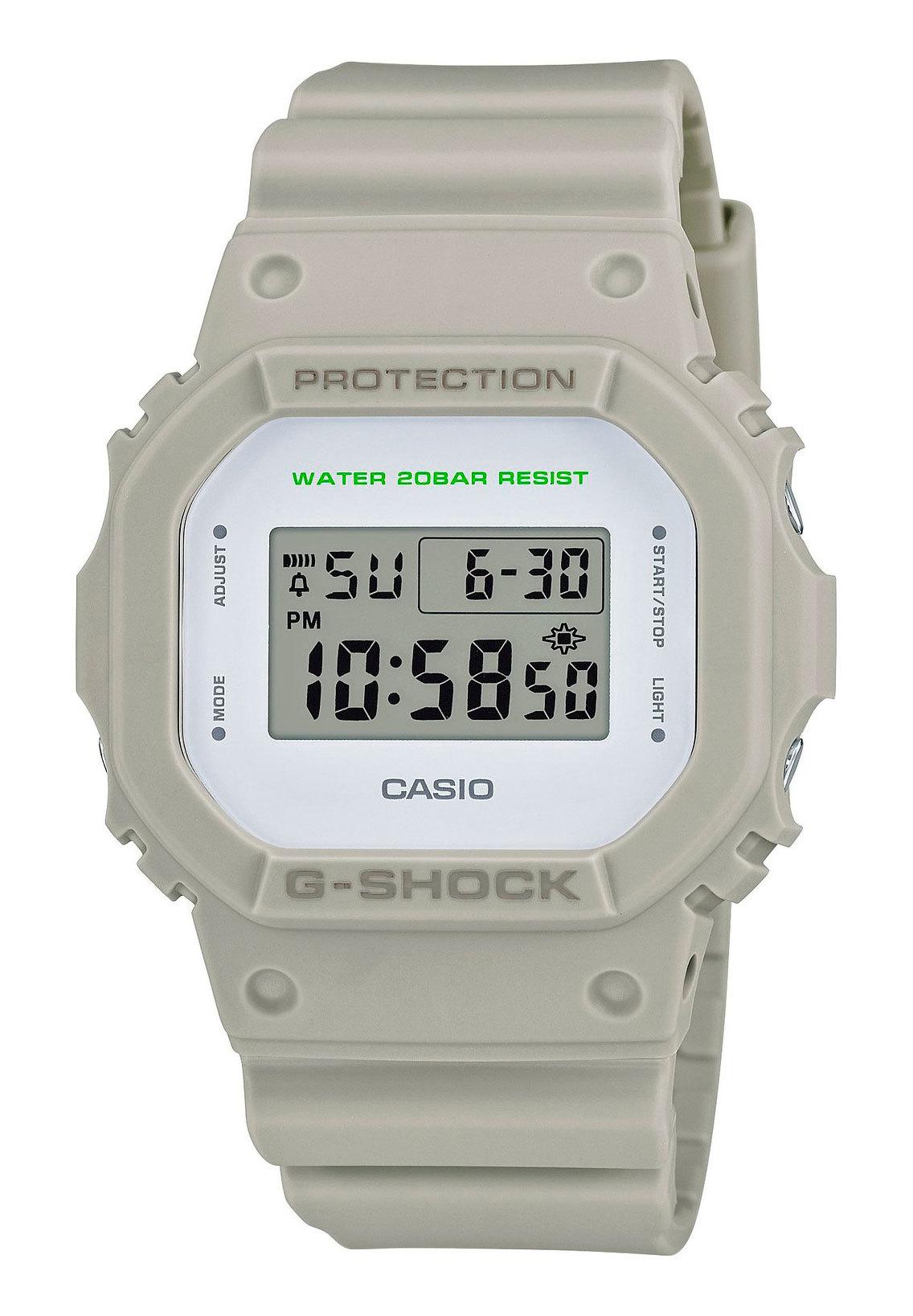 Casio G-SHOCK DW-5600M-8E / DW-5600M-8ER - мужские наручные часыCasio<br><br><br>Бренд: Casio<br>Модель: Casio DW-5600M-8E<br>Артикул: DW-5600M-8E<br>Вариант артикула: DW-5600M-8ER<br>Коллекция: G-SHOCK<br>Подколлекция: None<br>Страна: Япония<br>Пол: мужские<br>Тип механизма: кварцевые<br>Механизм: None<br>Количество камней: None<br>Автоподзавод: None<br>Источник энергии: от батарейки<br>Срок службы элемента питания: None<br>Дисплей: цифры<br>Цифры: None<br>Водозащита: WR 200<br>Противоударные: есть<br>Материал корпуса: пластик<br>Материал браслета: пластик<br>Материал безеля: None<br>Стекло: минеральное<br>Антибликовое покрытие: None<br>Цвет корпуса: None<br>Цвет браслета: None<br>Цвет циферблата: None<br>Цвет безеля: None<br>Размеры: 42.8x48.9x13.4 мм<br>Диаметр: None<br>Диаметр корпуса: None<br>Толщина: None<br>Ширина ремешка: None<br>Вес: 53 г<br>Спорт-функции: секундомер, таймер обратного отсчета<br>Подсветка: дисплея<br>Вставка: None<br>Отображение даты: вечный календарь, число, месяц, день недели<br>Хронограф: None<br>Таймер: None<br>Термометр: None<br>Хронометр: None<br>GPS: None<br>Радиосинхронизация: None<br>Барометр: None<br>Скелетон: None<br>Дополнительная информация: ежечасный сигнал, функция Flash alert; элемент питания CR2016, срок службы батарейки 2 года<br>Дополнительные функции: будильник