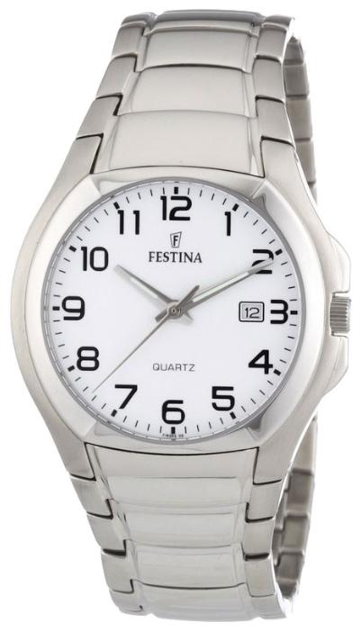 Festina F16262.5 - мужские наручные часы из коллекции ClassicFestina<br><br><br>Бренд: Festina<br>Модель: Festina F16262/5<br>Артикул: F16262.5<br>Вариант артикула: None<br>Коллекция: Classic<br>Подколлекция: None<br>Страна: Испания<br>Пол: мужские<br>Тип механизма: кварцевые<br>Механизм: None<br>Количество камней: None<br>Автоподзавод: None<br>Источник энергии: от батарейки<br>Срок службы элемента питания: None<br>Дисплей: стрелки<br>Цифры: арабские<br>Водозащита: WR 30<br>Противоударные: None<br>Материал корпуса: нерж. сталь<br>Материал браслета: нерж. сталь<br>Материал безеля: None<br>Стекло: минеральное<br>Антибликовое покрытие: None<br>Цвет корпуса: None<br>Цвет браслета: None<br>Цвет циферблата: None<br>Цвет безеля: None<br>Размеры: 39 мм<br>Диаметр: None<br>Диаметр корпуса: None<br>Толщина: None<br>Ширина ремешка: None<br>Вес: None<br>Спорт-функции: None<br>Подсветка: стрелок<br>Вставка: None<br>Отображение даты: число<br>Хронограф: None<br>Таймер: None<br>Термометр: None<br>Хронометр: None<br>GPS: None<br>Радиосинхронизация: None<br>Барометр: None<br>Скелетон: None<br>Дополнительная информация: None<br>Дополнительные функции: None