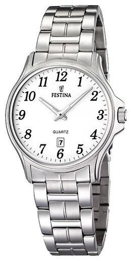 Festina F16474.1 - унисекс наручные часы из коллекции ClassicFestina<br><br><br>Бренд: Festina<br>Модель: Festina F16474/1<br>Артикул: F16474.1<br>Вариант артикула: None<br>Коллекция: Classic<br>Подколлекция: None<br>Страна: Испания<br>Пол: унисекс<br>Тип механизма: кварцевые<br>Механизм: None<br>Количество камней: None<br>Автоподзавод: None<br>Источник энергии: от батарейки<br>Срок службы элемента питания: None<br>Дисплей: стрелки<br>Цифры: арабские<br>Водозащита: WR 30<br>Противоударные: None<br>Материал корпуса: нерж. сталь<br>Материал браслета: нерж. сталь<br>Материал безеля: None<br>Стекло: минеральное<br>Антибликовое покрытие: None<br>Цвет корпуса: None<br>Цвет браслета: None<br>Цвет циферблата: None<br>Цвет безеля: None<br>Размеры: 32 мм<br>Диаметр: None<br>Диаметр корпуса: None<br>Толщина: None<br>Ширина ремешка: None<br>Вес: None<br>Спорт-функции: None<br>Подсветка: стрелок<br>Вставка: None<br>Отображение даты: число<br>Хронограф: None<br>Таймер: None<br>Термометр: None<br>Хронометр: None<br>GPS: None<br>Радиосинхронизация: None<br>Барометр: None<br>Скелетон: None<br>Дополнительная информация: None<br>Дополнительные функции: None