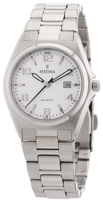 Festina F16375.5 - женские наручные часы из коллекции ClassicFestina<br><br><br>Бренд: Festina<br>Модель: Festina F16375/5<br>Артикул: F16375.5<br>Вариант артикула: None<br>Коллекция: Classic<br>Подколлекция: None<br>Страна: Испания<br>Пол: женские<br>Тип механизма: кварцевые<br>Механизм: None<br>Количество камней: None<br>Автоподзавод: None<br>Источник энергии: от батарейки<br>Срок службы элемента питания: None<br>Дисплей: стрелки<br>Цифры: арабские<br>Водозащита: WR 30<br>Противоударные: None<br>Материал корпуса: нерж. сталь<br>Материал браслета: нерж. сталь<br>Материал безеля: None<br>Стекло: минеральное<br>Антибликовое покрытие: None<br>Цвет корпуса: None<br>Цвет браслета: None<br>Цвет циферблата: None<br>Цвет безеля: None<br>Размеры: 31 мм<br>Диаметр: None<br>Диаметр корпуса: None<br>Толщина: None<br>Ширина ремешка: None<br>Вес: None<br>Спорт-функции: None<br>Подсветка: стрелок<br>Вставка: None<br>Отображение даты: число<br>Хронограф: None<br>Таймер: None<br>Термометр: None<br>Хронометр: None<br>GPS: None<br>Радиосинхронизация: None<br>Барометр: None<br>Скелетон: None<br>Дополнительная информация: None<br>Дополнительные функции: None