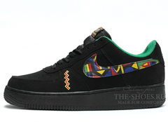 Кроссовки Мужские Nike Air Force Low Black Hippie
