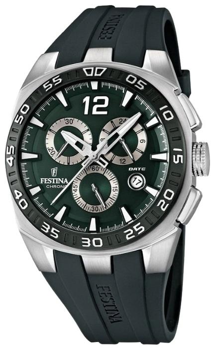 Festina F16668.4 - мужские наручные часы из коллекции SportFestina<br><br><br>Бренд: Festina<br>Модель: Festina F16668/4<br>Артикул: F16668.4<br>Вариант артикула: None<br>Коллекция: Sport<br>Подколлекция: None<br>Страна: Испания<br>Пол: мужские<br>Тип механизма: кварцевые<br>Механизм: None<br>Количество камней: None<br>Автоподзавод: None<br>Источник энергии: от батарейки<br>Срок службы элемента питания: None<br>Дисплей: стрелки<br>Цифры: арабские<br>Водозащита: WR 100<br>Противоударные: None<br>Материал корпуса: нерж. сталь, PVD покрытие (частичное)<br>Материал браслета: каучук<br>Материал безеля: None<br>Стекло: минеральное<br>Антибликовое покрытие: None<br>Цвет корпуса: None<br>Цвет браслета: None<br>Цвет циферблата: None<br>Цвет безеля: None<br>Размеры: 45x12 мм<br>Диаметр: None<br>Диаметр корпуса: None<br>Толщина: None<br>Ширина ремешка: None<br>Вес: None<br>Спорт-функции: секундомер<br>Подсветка: стрелок<br>Вставка: None<br>Отображение даты: число<br>Хронограф: есть<br>Таймер: None<br>Термометр: None<br>Хронометр: None<br>GPS: None<br>Радиосинхронизация: None<br>Барометр: None<br>Скелетон: None<br>Дополнительная информация: None<br>Дополнительные функции: None