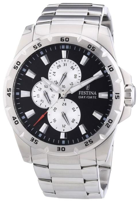 Festina F16662.6 - мужские наручные часы из коллекции MultifunctionFestina<br><br><br>Бренд: Festina<br>Модель: Festina F16662/6<br>Артикул: F16662.6<br>Вариант артикула: None<br>Коллекция: Multifunction<br>Подколлекция: None<br>Страна: Испания<br>Пол: мужские<br>Тип механизма: кварцевые<br>Механизм: None<br>Количество камней: None<br>Автоподзавод: None<br>Источник энергии: от батарейки<br>Срок службы элемента питания: None<br>Дисплей: стрелки<br>Цифры: отсутствуют<br>Водозащита: WR 100<br>Противоударные: None<br>Материал корпуса: нерж. сталь<br>Материал браслета: нерж. сталь<br>Материал безеля: None<br>Стекло: минеральное<br>Антибликовое покрытие: None<br>Цвет корпуса: None<br>Цвет браслета: None<br>Цвет циферблата: None<br>Цвет безеля: None<br>Размеры: 45 мм<br>Диаметр: None<br>Диаметр корпуса: None<br>Толщина: None<br>Ширина ремешка: None<br>Вес: None<br>Спорт-функции: None<br>Подсветка: стрелок<br>Вставка: None<br>Отображение даты: число, день недели<br>Хронограф: None<br>Таймер: None<br>Термометр: None<br>Хронометр: None<br>GPS: None<br>Радиосинхронизация: None<br>Барометр: None<br>Скелетон: None<br>Дополнительная информация: None<br>Дополнительные функции: None