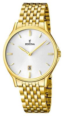 Festina F16746.1 - мужские наручные часы из коллекции ClassicFestina<br><br><br>Бренд: Festina<br>Модель: Festina F16746/1<br>Артикул: F16746.1<br>Вариант артикула: None<br>Коллекция: Classic<br>Подколлекция: None<br>Страна: Испания<br>Пол: мужские<br>Тип механизма: кварцевые<br>Механизм: None<br>Количество камней: None<br>Автоподзавод: None<br>Источник энергии: от батарейки<br>Срок службы элемента питания: None<br>Дисплей: стрелки<br>Цифры: отсутствуют<br>Водозащита: WR 50<br>Противоударные: None<br>Материал корпуса: нерж. сталь, PVD покрытие: позолота (полное)<br>Материал браслета: нерж. сталь, PVD покрытие (полное): позолота<br>Материал безеля: None<br>Стекло: минеральное<br>Антибликовое покрытие: None<br>Цвет корпуса: None<br>Цвет браслета: None<br>Цвет циферблата: None<br>Цвет безеля: None<br>Размеры: 39.2 мм<br>Диаметр: None<br>Диаметр корпуса: None<br>Толщина: None<br>Ширина ремешка: None<br>Вес: None<br>Спорт-функции: None<br>Подсветка: None<br>Вставка: None<br>Отображение даты: число<br>Хронограф: None<br>Таймер: None<br>Термометр: None<br>Хронометр: None<br>GPS: None<br>Радиосинхронизация: None<br>Барометр: None<br>Скелетон: None<br>Дополнительная информация: None<br>Дополнительные функции: None