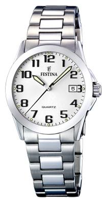 Festina F16377.7 - женские наручные часы из коллекции ClassicFestina<br><br><br>Бренд: Festina<br>Модель: Festina F16377/7<br>Артикул: F16377.7<br>Вариант артикула: None<br>Коллекция: Classic<br>Подколлекция: None<br>Страна: Испания<br>Пол: женские<br>Тип механизма: кварцевые<br>Механизм: M1N12<br>Количество камней: None<br>Автоподзавод: None<br>Источник энергии: от батарейки<br>Срок службы элемента питания: None<br>Дисплей: стрелки<br>Цифры: арабские<br>Водозащита: WR 50<br>Противоударные: None<br>Материал корпуса: нерж. сталь<br>Материал браслета: нерж. сталь<br>Материал безеля: None<br>Стекло: минеральное<br>Антибликовое покрытие: None<br>Цвет корпуса: None<br>Цвет браслета: None<br>Цвет циферблата: None<br>Цвет безеля: None<br>Размеры: 30 мм<br>Диаметр: None<br>Диаметр корпуса: None<br>Толщина: None<br>Ширина ремешка: None<br>Вес: None<br>Спорт-функции: None<br>Подсветка: стрелок<br>Вставка: None<br>Отображение даты: число<br>Хронограф: None<br>Таймер: None<br>Термометр: None<br>Хронометр: None<br>GPS: None<br>Радиосинхронизация: None<br>Барометр: None<br>Скелетон: None<br>Дополнительная информация: None<br>Дополнительные функции: None
