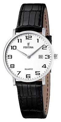 Festina F16477.1 - женские наручные часы из коллекции ClassicFestina<br><br><br>Бренд: Festina<br>Модель: Festina F16477/1<br>Артикул: F16477.1<br>Вариант артикула: None<br>Коллекция: Classic<br>Подколлекция: None<br>Страна: Испания<br>Пол: женские<br>Тип механизма: кварцевые<br>Механизм: M9T15<br>Количество камней: None<br>Автоподзавод: None<br>Источник энергии: от батарейки<br>Срок службы элемента питания: None<br>Дисплей: стрелки<br>Цифры: арабские<br>Водозащита: WR 30<br>Противоударные: None<br>Материал корпуса: нерж. сталь<br>Материал браслета: кожа<br>Материал безеля: None<br>Стекло: минеральное<br>Антибликовое покрытие: None<br>Цвет корпуса: None<br>Цвет браслета: None<br>Цвет циферблата: None<br>Цвет безеля: None<br>Размеры: 30.5 мм<br>Диаметр: None<br>Диаметр корпуса: None<br>Толщина: None<br>Ширина ремешка: None<br>Вес: None<br>Спорт-функции: None<br>Подсветка: None<br>Вставка: None<br>Отображение даты: число<br>Хронограф: None<br>Таймер: None<br>Термометр: None<br>Хронометр: None<br>GPS: None<br>Радиосинхронизация: None<br>Барометр: None<br>Скелетон: None<br>Дополнительная информация: None<br>Дополнительные функции: None
