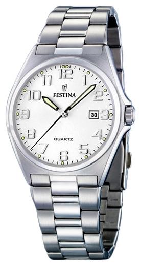 Festina F16374.6 - мужские наручные часы из коллекции ClassicFestina<br><br><br>Бренд: Festina<br>Модель: Festina F16374/6<br>Артикул: F16374.6<br>Вариант артикула: None<br>Коллекция: Classic<br>Подколлекция: None<br>Страна: Испания<br>Пол: мужские<br>Тип механизма: кварцевые<br>Механизм: M1M12<br>Количество камней: None<br>Автоподзавод: None<br>Источник энергии: от батарейки<br>Срок службы элемента питания: None<br>Дисплей: стрелки<br>Цифры: арабские<br>Водозащита: WR 50<br>Противоударные: None<br>Материал корпуса: нерж. сталь<br>Материал браслета: нерж. сталь<br>Материал безеля: None<br>Стекло: минеральное<br>Антибликовое покрытие: None<br>Цвет корпуса: None<br>Цвет браслета: None<br>Цвет циферблата: None<br>Цвет безеля: None<br>Размеры: 40 мм<br>Диаметр: None<br>Диаметр корпуса: None<br>Толщина: None<br>Ширина ремешка: None<br>Вес: None<br>Спорт-функции: None<br>Подсветка: стрелок<br>Вставка: None<br>Отображение даты: число<br>Хронограф: None<br>Таймер: None<br>Термометр: None<br>Хронометр: None<br>GPS: None<br>Радиосинхронизация: None<br>Барометр: None<br>Скелетон: None<br>Дополнительная информация: None<br>Дополнительные функции: None
