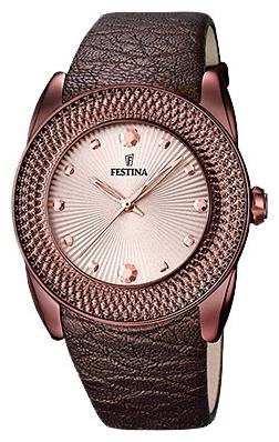 Festina F16591.C - женские наручные часыFestina<br><br><br>Бренд: Festina<br>Модель: Festina F16591/C<br>Артикул: F16591.C<br>Вариант артикула: None<br>Коллекция: None<br>Подколлекция: None<br>Страна: Испания<br>Пол: женские<br>Тип механизма: кварцевые<br>Механизм: MGL30<br>Количество камней: None<br>Автоподзавод: None<br>Источник энергии: от батарейки<br>Срок службы элемента питания: None<br>Дисплей: стрелки<br>Цифры: отсутствуют<br>Водозащита: WR 50<br>Противоударные: None<br>Материал корпуса: нерж. сталь, PVD покрытие (полное)<br>Материал браслета: кожа (не указан)<br>Материал безеля: None<br>Стекло: минеральное<br>Антибликовое покрытие: None<br>Цвет корпуса: None<br>Цвет браслета: None<br>Цвет циферблата: None<br>Цвет безеля: None<br>Размеры: 42 мм<br>Диаметр: None<br>Диаметр корпуса: None<br>Толщина: None<br>Ширина ремешка: None<br>Вес: None<br>Спорт-функции: None<br>Подсветка: None<br>Вставка: циркон<br>Отображение даты: None<br>Хронограф: None<br>Таймер: None<br>Термометр: None<br>Хронометр: None<br>GPS: None<br>Радиосинхронизация: None<br>Барометр: None<br>Скелетон: None<br>Дополнительная информация: None<br>Дополнительные функции: None
