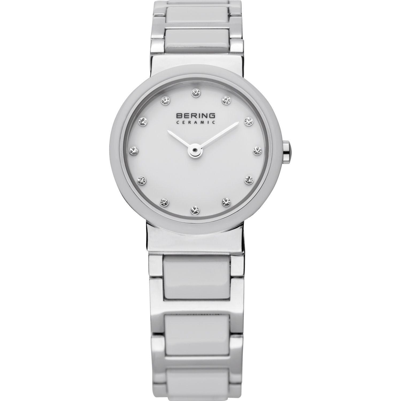 Bering 10725-754 - женские наручные часы из коллекции CeramicBering<br>женские, сапфировое стекло, корпус из нерж. стали с безелем из керамики белого цвета,  браслет из нерж. стали со вставками из керамики белого цвета, циферблат белого цвета с 12-ю кристаллами swarovski<br><br>Бренд: Bering<br>Модель: Bering 10725-754<br>Артикул: 10725-754<br>Вариант артикула: ber-10725-754<br>Коллекция: Ceramic<br>Подколлекция: None<br>Страна: Дания<br>Пол: женские<br>Тип механизма: кварцевые<br>Механизм: None<br>Количество камней: None<br>Автоподзавод: None<br>Источник энергии: от батарейки<br>Срок службы элемента питания: None<br>Дисплей: стрелки<br>Цифры: отсутствуют<br>Водозащита: WR 50<br>Противоударные: None<br>Материал корпуса: нерж. сталь + керамика<br>Материал браслета: нерж. сталь + керамика<br>Материал безеля: керамика<br>Стекло: сапфировое<br>Антибликовое покрытие: None<br>Цвет корпуса: серебристый<br>Цвет браслета: серебрянный<br>Цвет циферблата: None<br>Цвет безеля: белый<br>Размеры: 25 мм<br>Диаметр: 25 мм<br>Диаметр корпуса: None<br>Толщина: None<br>Ширина ремешка: None<br>Вес: None<br>Спорт-функции: None<br>Подсветка: None<br>Вставка: кристаллы Swarovski<br>Отображение даты: None<br>Хронограф: None<br>Таймер: None<br>Термометр: None<br>Хронометр: None<br>GPS: None<br>Радиосинхронизация: None<br>Барометр: None<br>Скелетон: None<br>Дополнительная информация: None<br>Дополнительные функции: None