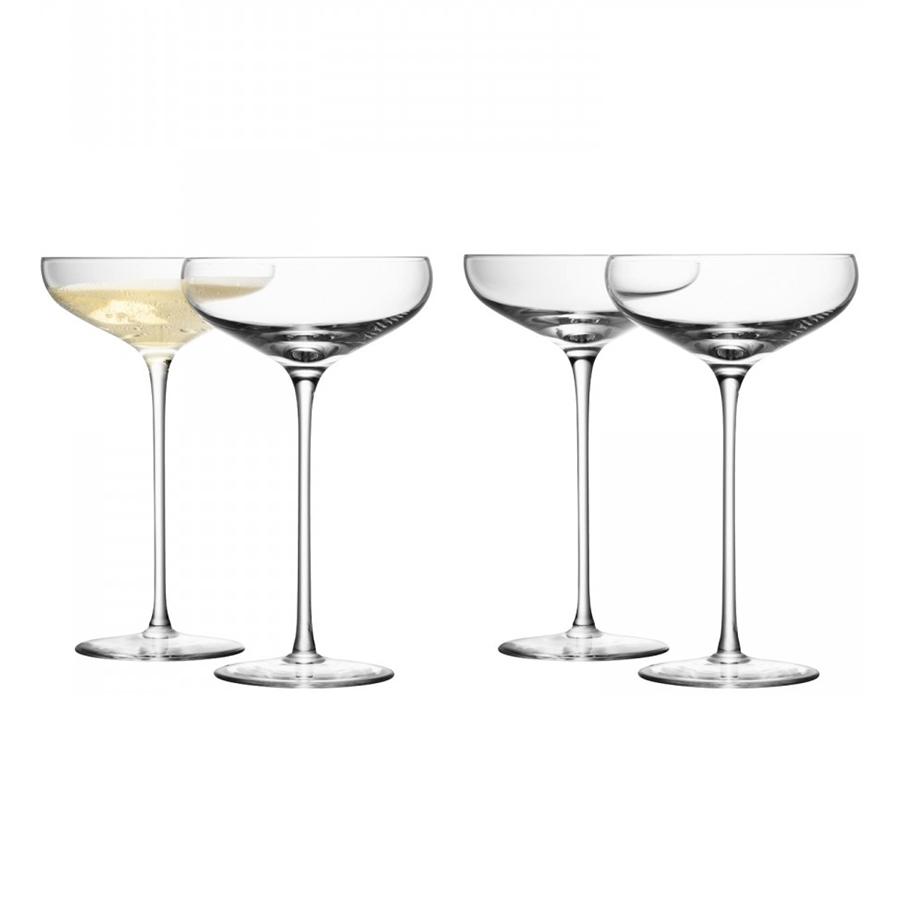 Бокал-креманка для шампанского Wine 4 шт. LSA G730-11-991Бокалы и стаканы<br>Бокалы из коллекции Wine—&amp;nbsp,&amp;nbsp,воплощение элегантности, минимализма и изысканности. Набор состоит из 4-х бокалов, которые идеально подходят для сервировки шампанского. Безупречное качество стекла ручной работы от LSA International и утонченный дизайн делает этот сет прекрасным подарком на любой праздник.<br>