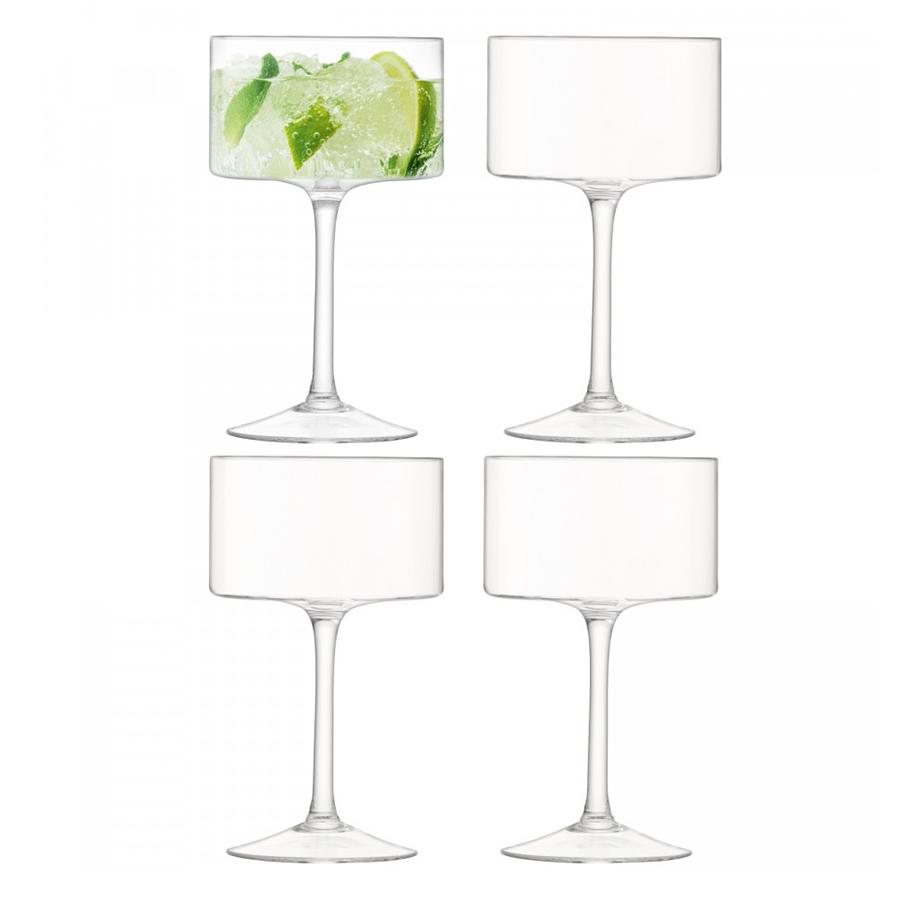 Бокал-креманка для шампанского и коктейлей Otis 4 шт. LSA G1069-10-301Бокалы и стаканы<br>Otis — совершенная геометрическая форма, минималистичный дизайн и кристально-прозрачное стекло ручного производства. Бокалы для шампанского, коктейлей и легких десертов цилиндрической формы станут эффектным штрихом для торжественного ужина, фуршета или вечеринки. Набор из 4-х бокалов упакован в коробку и станет отличным подарком на любой праздник.<br>