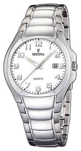 Festina F16262.6 - мужские наручные часы из коллекции ClassicFestina<br><br><br>Бренд: Festina<br>Модель: Festina F16262/6<br>Артикул: F16262.6<br>Вариант артикула: None<br>Коллекция: Classic<br>Подколлекция: None<br>Страна: Испания<br>Пол: мужские<br>Тип механизма: кварцевые<br>Механизм: None<br>Количество камней: None<br>Автоподзавод: None<br>Источник энергии: от батарейки<br>Срок службы элемента питания: None<br>Дисплей: стрелки<br>Цифры: арабские<br>Водозащита: WR 30<br>Противоударные: None<br>Материал корпуса: нерж. сталь<br>Материал браслета: нерж. сталь<br>Материал безеля: None<br>Стекло: минеральное<br>Антибликовое покрытие: None<br>Цвет корпуса: None<br>Цвет браслета: None<br>Цвет циферблата: None<br>Цвет безеля: None<br>Размеры: 39 мм<br>Диаметр: None<br>Диаметр корпуса: None<br>Толщина: None<br>Ширина ремешка: None<br>Вес: None<br>Спорт-функции: None<br>Подсветка: стрелок<br>Вставка: None<br>Отображение даты: число<br>Хронограф: None<br>Таймер: None<br>Термометр: None<br>Хронометр: None<br>GPS: None<br>Радиосинхронизация: None<br>Барометр: None<br>Скелетон: None<br>Дополнительная информация: None<br>Дополнительные функции: None