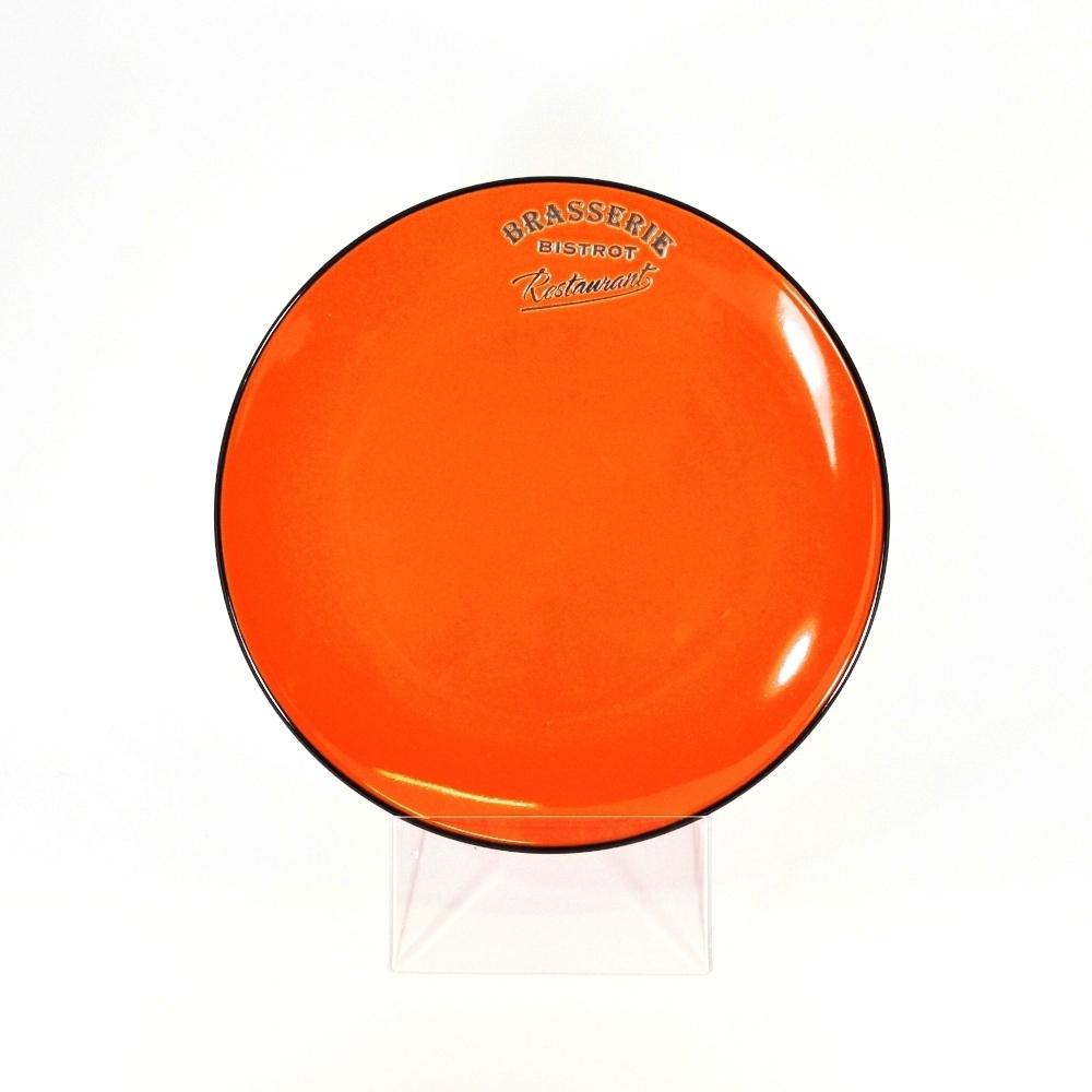 Тарелка десертная 21,5 см оранжевая (Фарфор и керамика Antic Line)Фарфор и керамика Antic Line<br>Тарелка десертная 21,5 см оранжевая<br>Керамика, стилизовано под эмалированный металл<br>Производитель: Antic Line, Франция<br>