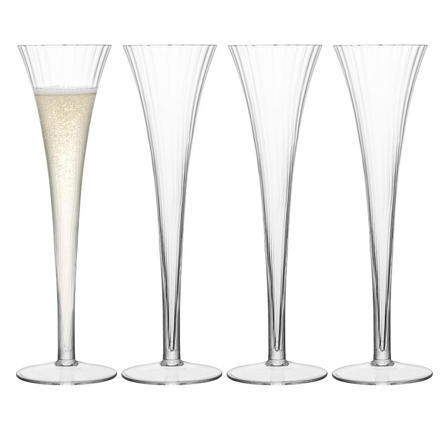 Бокал-флейта для шампанского Aurelia 4 шт. LSA G666-05-776Бокалы и стаканы<br>Тонкие линии и деликатные грани бокалов Aurelia для игристых вин и коктейлей от бренда LSA International подчеркивают игру света и оптическое совершенство выдувного стекла. <br>Благодаря изысканному дизайну, они идеально подойдут для торжественных застолий и официальных мероприятий. <br>В коллекции Aurelia представлены бокалы для красного, белого вина, фужеры для шампанского и коктейлей, блюда со стеклянными крышками для закусок и другие предметы из стекла ручного производства. <br>Бокалы упакованы в красивую коробку и станут отличным подарком на любой праздник.<br>