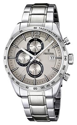 Festina F16759.2 - мужские наручные часы из коллекции ChronographFestina<br><br><br>Бренд: Festina<br>Модель: Festina F16759/2<br>Артикул: F16759.2<br>Вариант артикула: None<br>Коллекция: Chronograph<br>Подколлекция: None<br>Страна: Испания<br>Пол: мужские<br>Тип механизма: кварцевые<br>Механизм: MJS15<br>Количество камней: None<br>Автоподзавод: None<br>Источник энергии: от батарейки<br>Срок службы элемента питания: None<br>Дисплей: стрелки<br>Цифры: арабские<br>Водозащита: WR 50<br>Противоударные: None<br>Материал корпуса: нерж. сталь<br>Материал браслета: нерж. сталь<br>Материал безеля: None<br>Стекло: минеральное<br>Антибликовое покрытие: None<br>Цвет корпуса: None<br>Цвет браслета: None<br>Цвет циферблата: None<br>Цвет безеля: None<br>Размеры: 44 мм<br>Диаметр: None<br>Диаметр корпуса: None<br>Толщина: None<br>Ширина ремешка: None<br>Вес: None<br>Спорт-функции: секундомер<br>Подсветка: стрелок<br>Вставка: None<br>Отображение даты: число<br>Хронограф: есть<br>Таймер: None<br>Термометр: None<br>Хронометр: None<br>GPS: None<br>Радиосинхронизация: None<br>Барометр: None<br>Скелетон: None<br>Дополнительная информация: None<br>Дополнительные функции: None