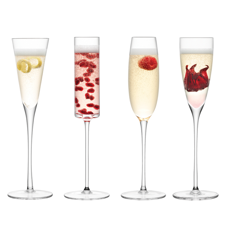 Бокал-флейта для шампанского Lulu 4 шт. LSA G1070-00-301Бокалы и стаканы<br>Современный дизайн, плавные линии, разнообразие форм и премиальное качество. <br>Сет из 4-х бокалов для шампанского выполнен стекла ручной работы опытными мастерами. Набор упакован в красивую коробку и станет отличным подарком на любой праздник.<br>